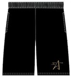 Jersey Athletic Shorts-BLACK