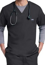 SCRUBS - V-NECK TOP WITH CHEST POCKET - MALE - 4789